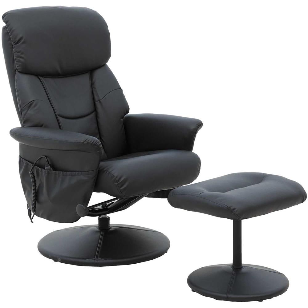 BLACK HEATED SHIATSU MASSAGE CHAIR